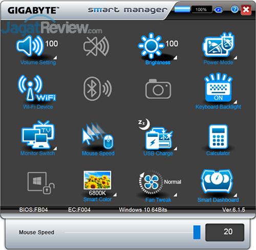 Gigabyte P35X v6 Smart Manager 16