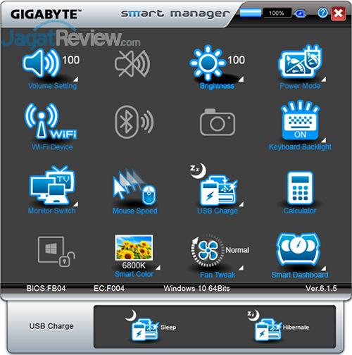 Gigabyte P35X v6 Smart Manager 17