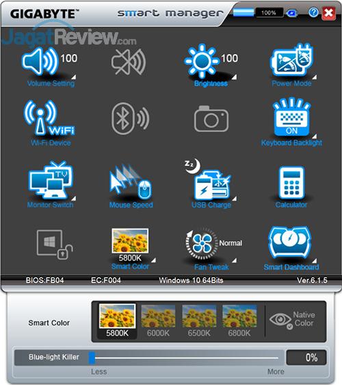 Gigabyte P35X v6 Smart Manager 18