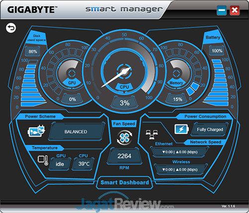 Gigabyte P35X v6 Smart Manager Dashboard