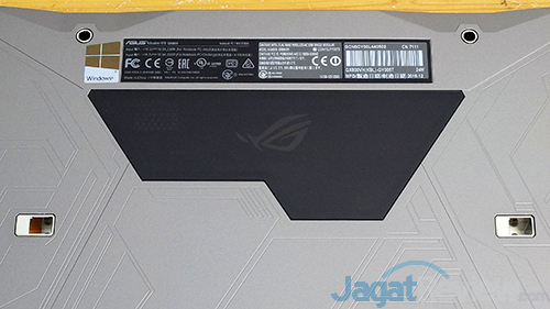 ASUS ROG GX800 Bottom Side - Transparent Window & Docking Hole