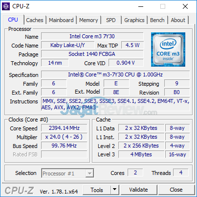 Dell Inspiron 11 3179 CPUZ 01