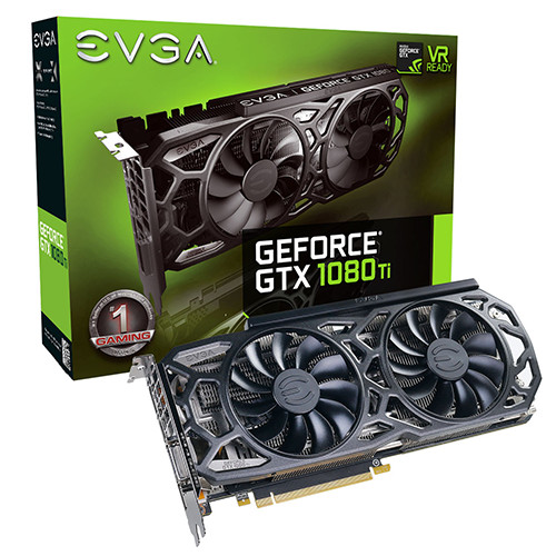 EVGA GTX 1080 Ti SC Black Edition Gaming - 1556 1670 11016