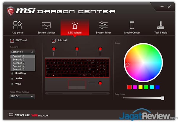 MSI GT73VR 6RE Titan Dragon Center 08