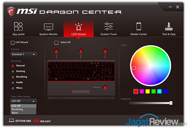 MSI GT73VR 6RE Titan Dragon Center 09
