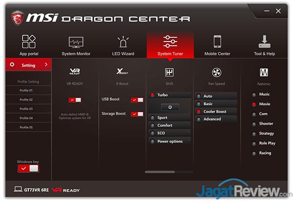 MSI GT73VR 6RE Titan Dragon Center 12