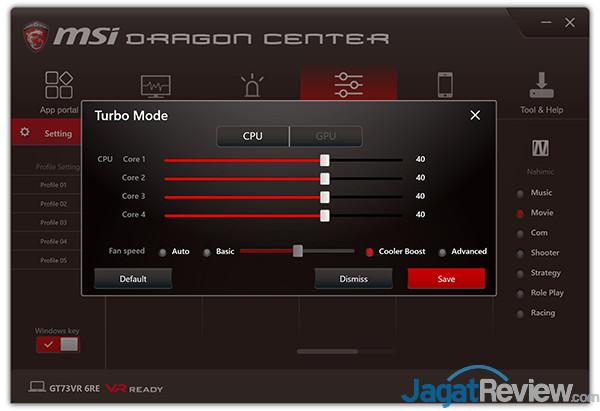 MSI GT73VR 6RE Titan Dragon Center 13