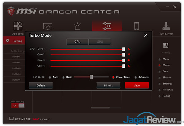 MSI GT73VR 6RE Titan Dragon Center 14