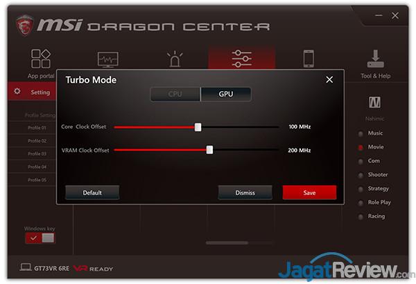 MSI GT73VR 6RE Titan Dragon Center 15