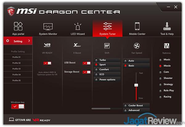 MSI GT73VR 6RE Titan Dragon Center 17