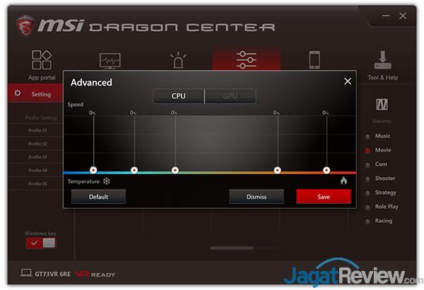 MSI GT73VR 6RE Titan Dragon Center 19