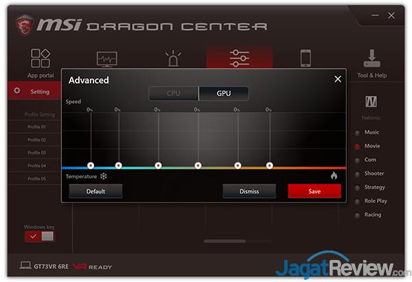 MSI GT73VR 6RE Titan Dragon Center 20