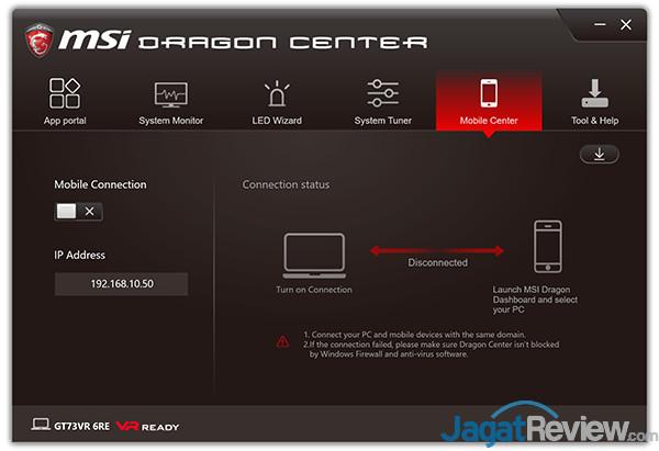 MSI GT73VR 6RE Titan Dragon Center 21