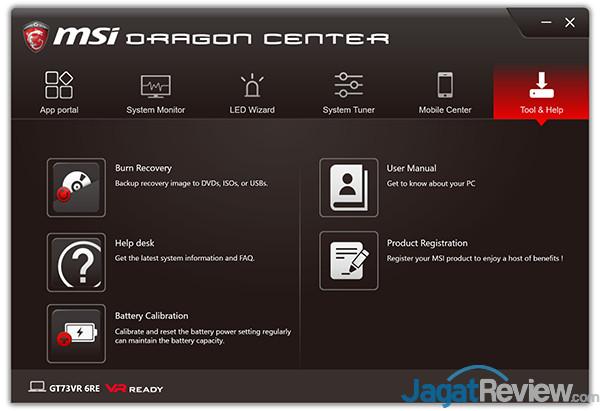 MSI GT73VR 6RE Titan Dragon Center 22