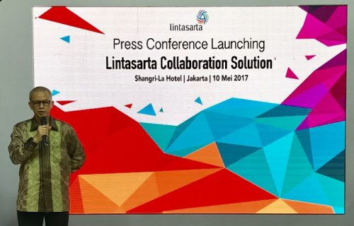 Foto: IT Services Director Lintasarta, Arya N Soemali saat peluncuran solusi inovatif terbaru Lintasarta Collaboration Solution, Rabu (10/5) di Jakarta.