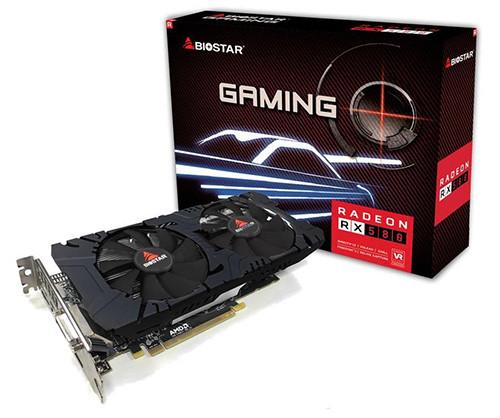 Biostar RX 580 Dual Cooling 8 GB 1340 8000