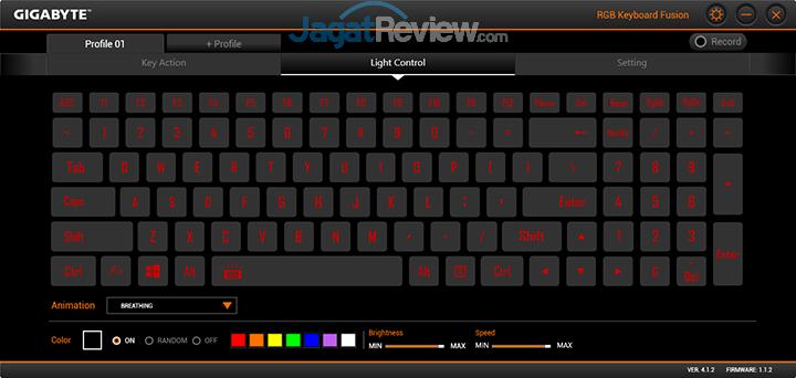 Gigabyte Aero 15 RGB Keyboard Fusion 03