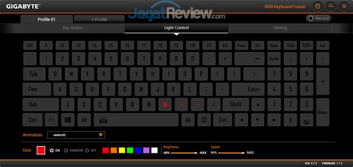 Gigabyte Aero 15 RGB Keyboard Fusion 06
