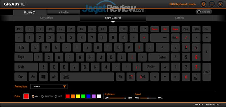 Gigabyte Aero 15 RGB Keyboard Fusion 07