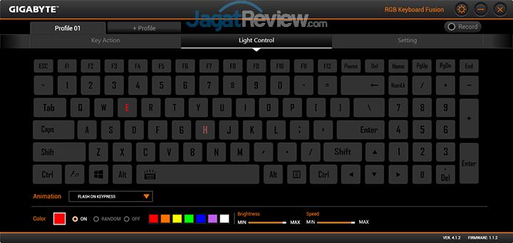 Gigabyte Aero 15 RGB Keyboard Fusion 08