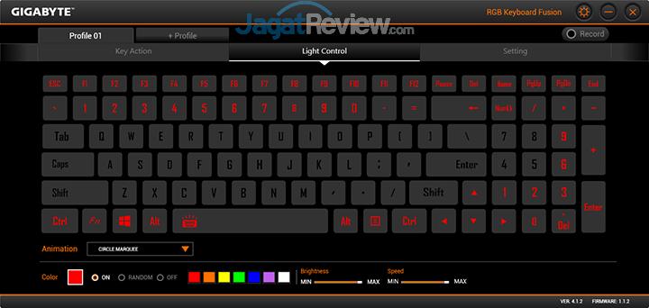 Gigabyte Aero 15 RGB Keyboard Fusion 12