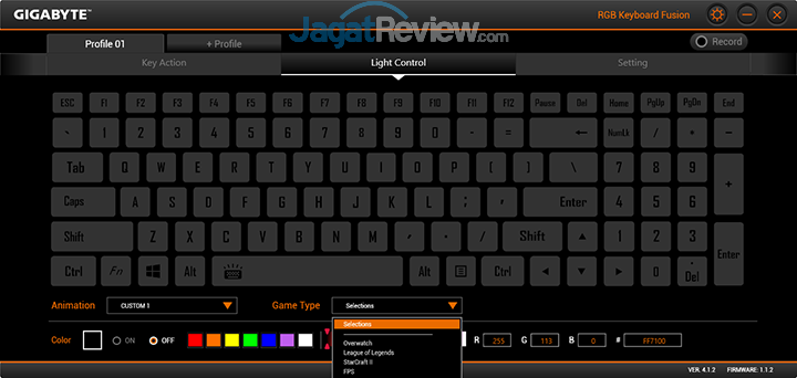 Gigabyte Aero 15 RGB Keyboard Fusion 16