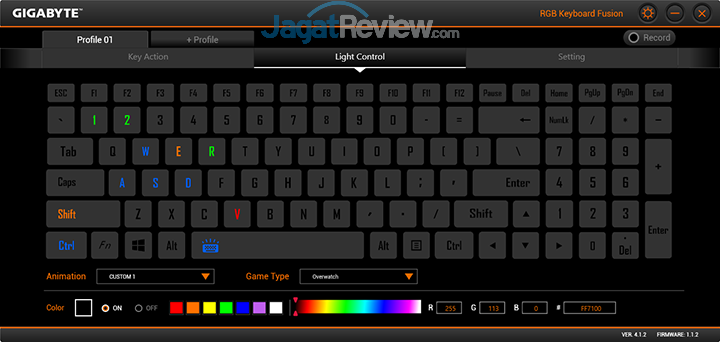 Gigabyte Aero 15 RGB Keyboard Fusion 17
