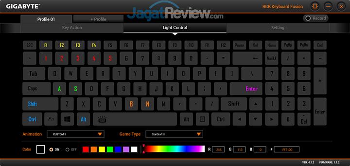 Gigabyte Aero 15 RGB Keyboard Fusion 19