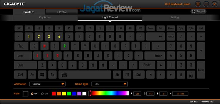 Gigabyte Aero 15 RGB Keyboard Fusion 20