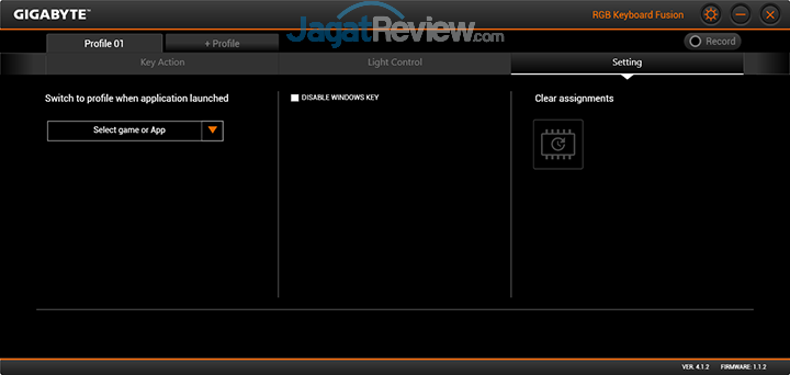 Gigabyte Aero 15 RGB Keyboard Fusion 25