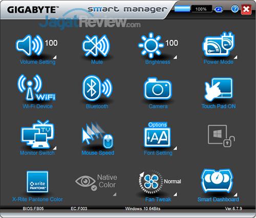Gigabyte Aero 15 Smart Manager 01