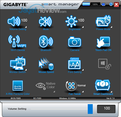 Gigabyte Aero 15 Smart Manager 02