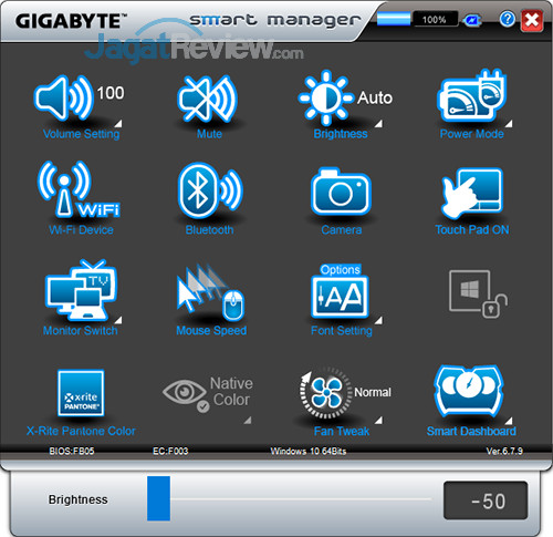 Gigabyte Aero 15 Smart Manager 03
