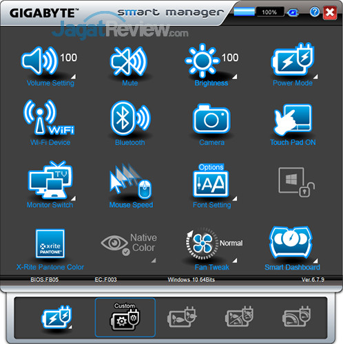 Gigabyte Aero 15 Smart Manager 10