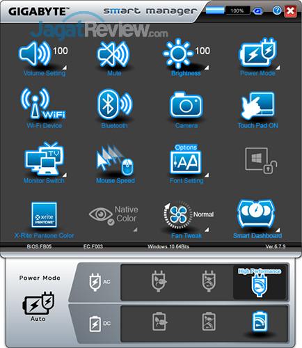 Gigabyte Aero 15 Smart Manager 12