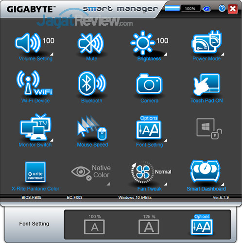 Gigabyte Aero 15 Smart Manager 20