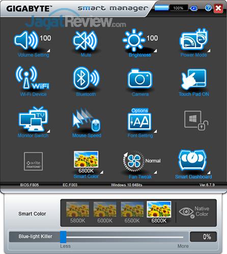 Gigabyte Aero 15 Smart Manager 25