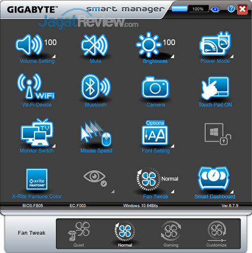 Gigabyte Aero 15 Smart Manager 28
