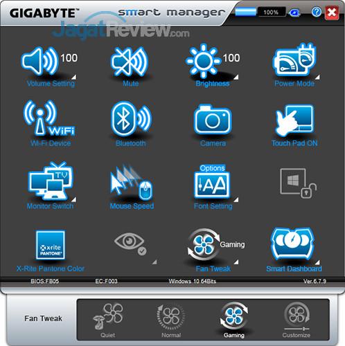 Gigabyte Aero 15 Smart Manager 29