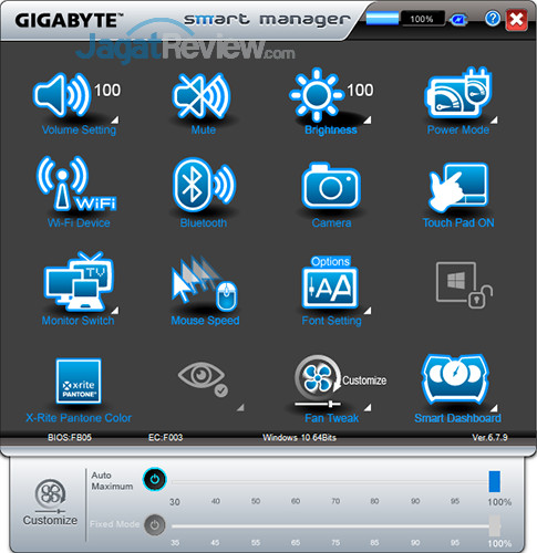 Gigabyte Aero 15 Smart Manager 30