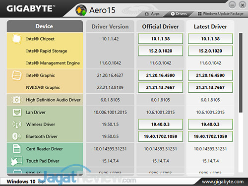 Gigabyte Aero 15 Smart Update 01