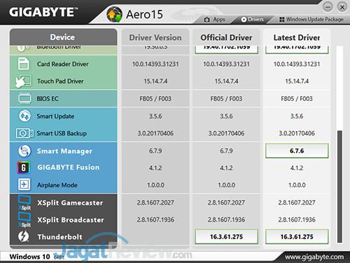 Gigabyte Aero 15 Smart Update 02