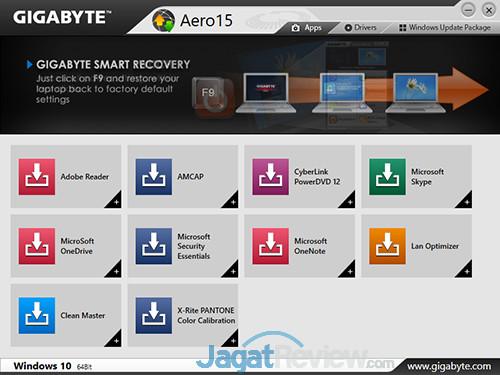 Gigabyte Aero 15 Smart Update 03