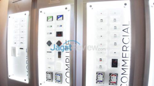 Rangkain produk WD dan SanDisk yang dipamerkan di Computex 2017