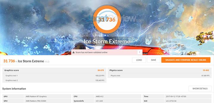 HP 15-bw072ax 3DMark Ice Storm Extreme