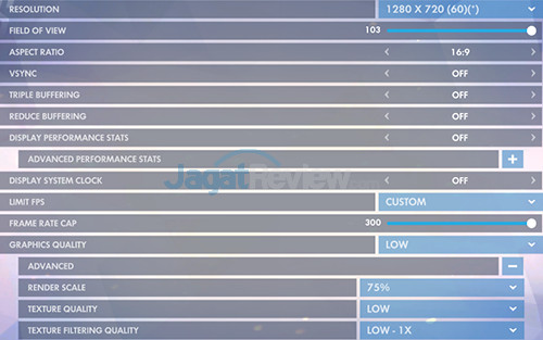 HP 15-bw072ax Overwatch Setting