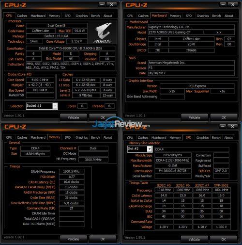 Core i5-8600K RAM DDR4-3600