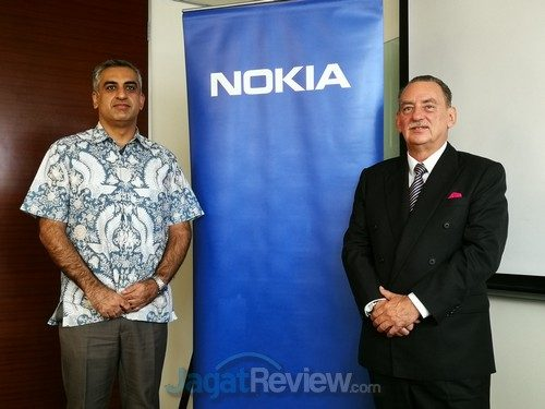 Robert Cattanach, President Director, Indonesia, Nokia dan Danial Mausoof, Head of Strategic Marketing, Asia Pacific and Japan.