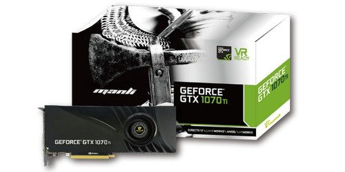 Manli GeForce GTX 1070Ti with Blower Fan