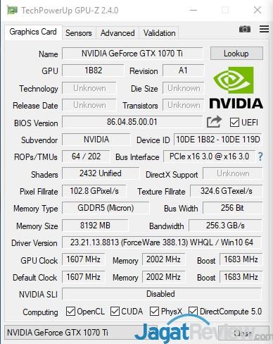 NVIDIA GeForce GTX 1070 Ti FE 17